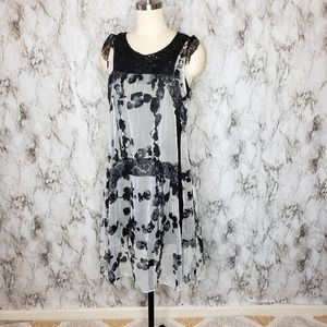 Desigual semi Sheer dress New With Tags Size 4